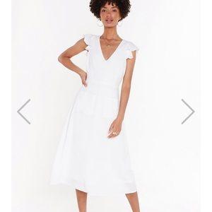 Nasty gal white midi dress